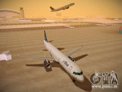 Airbus A321-232 jetBlue Airways für GTA San Andreas Innenansicht