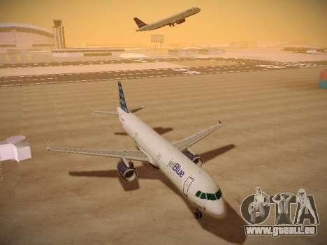 Airbus A321-232 jetBlue Airways pour GTA San Andreas vue intérieure