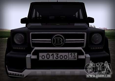 Brabus 800 pour GTA San Andreas vue intérieure