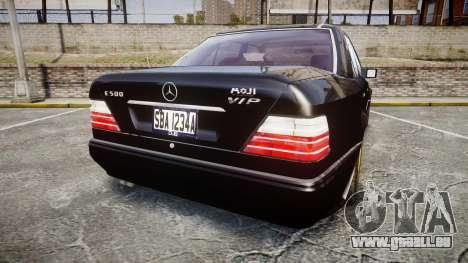 Mercedes-Benz E500 1998 Tuned Wheel Gold pour GTA 4 Vue arrière de la gauche