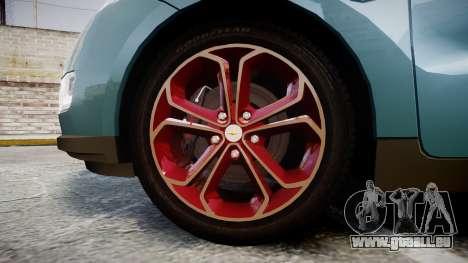 Chevrolet Volt 2011 v1.01 rims2 für GTA 4 Rückansicht