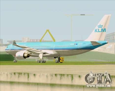 Airbus A330-200 KLM - Royal Dutch Airlines pour GTA San Andreas vue arrière
