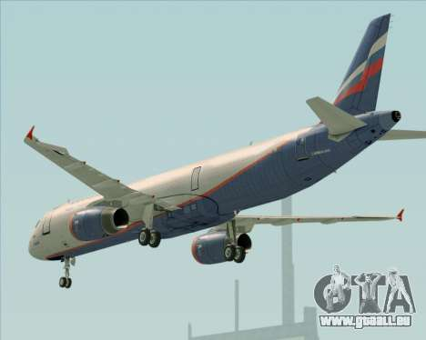 Airbus A321-200 Aeroflot - Russian Airlines pour GTA San Andreas moteur