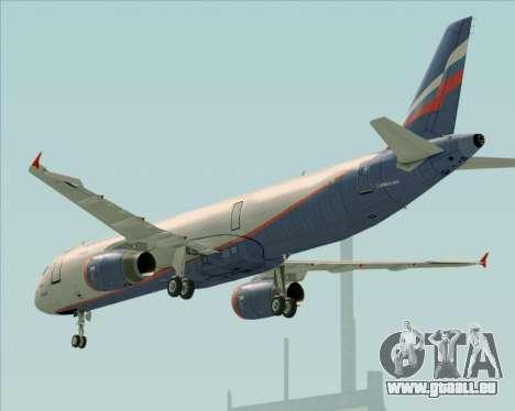 Airbus A321-200 Aeroflot - Russian Airlines pour GTA San Andreas moteur