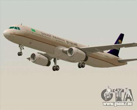 Airbus A321-200 Saudi Arabian Airlines für GTA San Andreas linke Ansicht