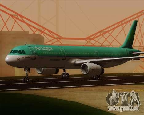 Airbus A321-200 Aer Lingus für GTA San Andreas linke Ansicht
