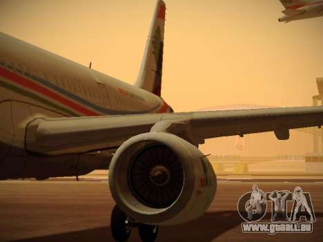 Airbus A321-232 Middle East Airlines pour GTA San Andreas roue
