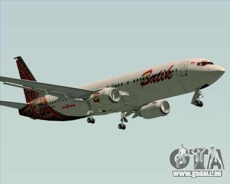 Boeing 737-800 Batik Air pour GTA San Andreas laissé vue