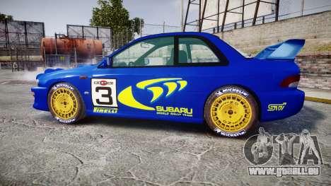 Subaru Impreza WRC 1998 Rally v2.0 Yellow für GTA 4 linke Ansicht