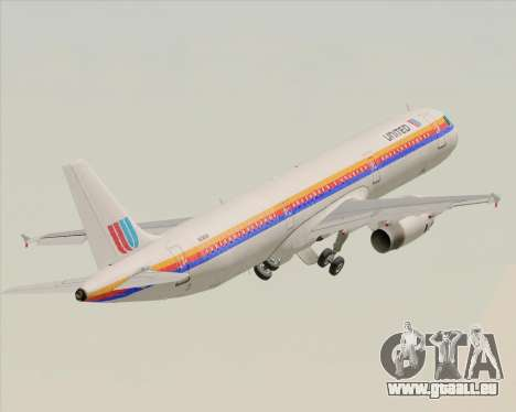 Airbus A321-200 United Airlines für GTA San Andreas