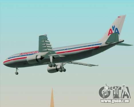 Airbus A300-600 American Airlines pour GTA San Andreas vue arrière