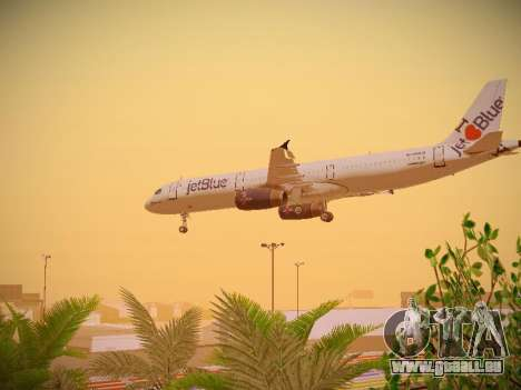 Airbus A321-232 jetBlue I love Blue York für GTA San Andreas Unteransicht