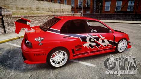 Mitsubishi Lancer Evolution IX Fast and Furious für GTA 4 linke Ansicht