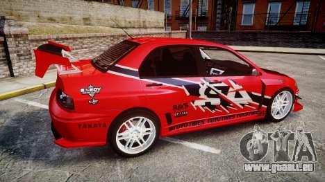 Mitsubishi Lancer Evolution IX Fast and Furious pour GTA 4 est une gauche