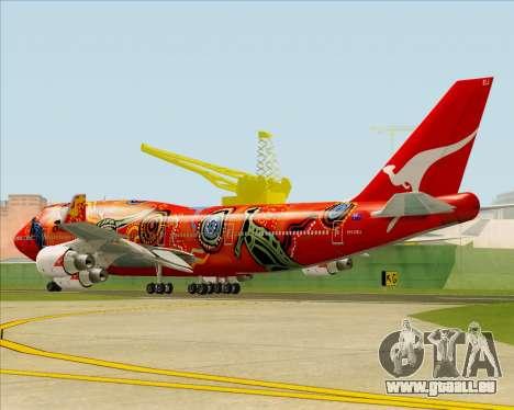 Boeing 747-400ER Qantas (Wunala Dreaming) für GTA San Andreas Rückansicht