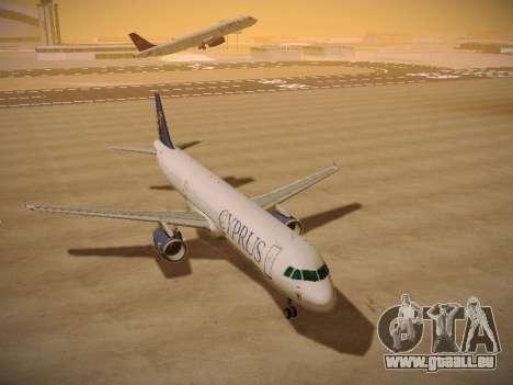 Airbus A321-232 Cyprus Airways pour GTA San Andreas vue arrière