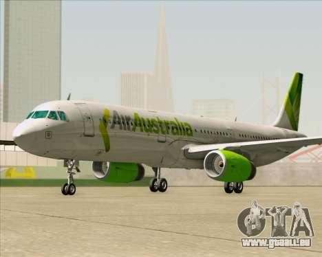 Airbus A321-200 Air Australia pour GTA San Andreas vue de dessous