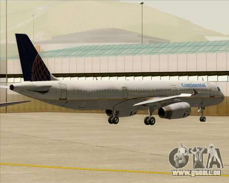 Airbus A321-200 Continental Airlines pour GTA San Andreas