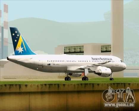 Airbus A320-200 Ansett Australia pour GTA San Andreas vue de dessous