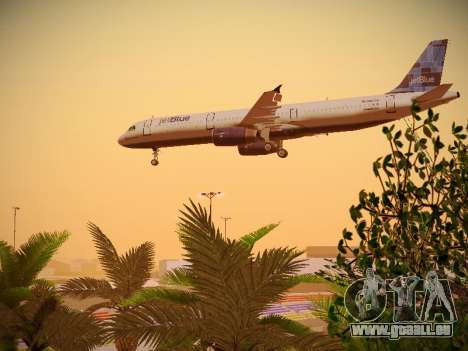 Airbus A321-232 jetBlue Do-be-do-be-blue pour GTA San Andreas salon