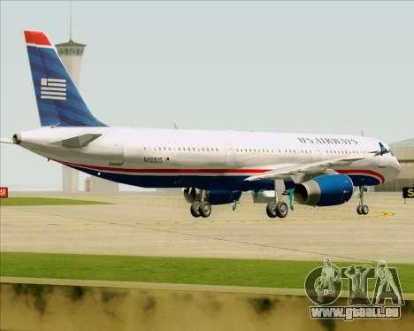 Airbus A321-200 US Airways für GTA San Andreas Unteransicht
