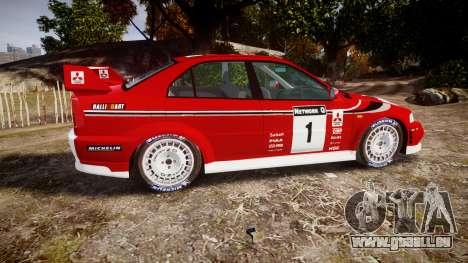 Mitsubishi Lancer Evolution VI Rally Marlboro pour GTA 4 est une gauche
