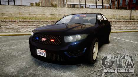 GTA V Vapid Interceptor Unmarked [ELS] Slicktop pour GTA 4