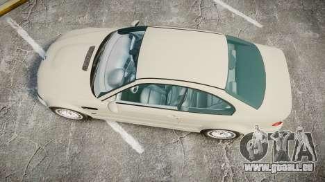 BMW M3 E46 2001 Tuned Wheel White pour GTA 4 est un droit