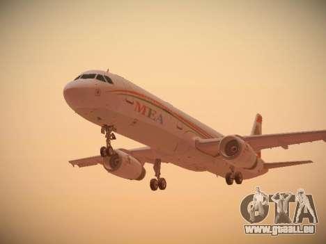 Airbus A321-232 Middle East Airlines pour GTA San Andreas vue arrière