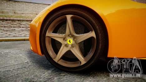 Ferrari FF 2012 Pininfarina Yellow für GTA 4 Rückansicht
