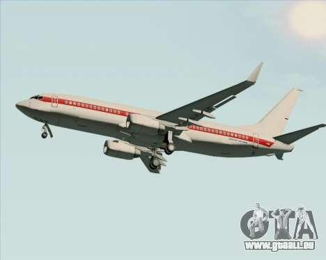 Boeing 737-800 EG&G - Janet pour GTA San Andreas sur la vue arrière gauche