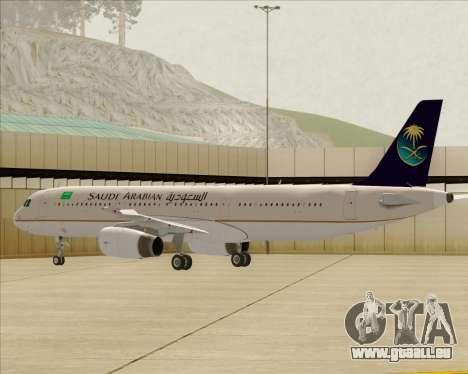 Airbus A321-200 Saudi Arabian Airlines pour GTA San Andreas roue