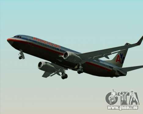 Boeing 737-800 American Airlines für GTA San Andreas Innenansicht