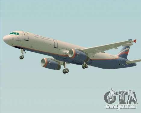 Airbus A321-200 Aeroflot - Russian Airlines pour GTA San Andreas vue de dessous
