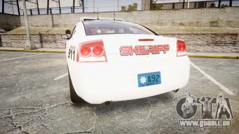 Dodge Charger 2010 LC Sheriff [ELS] pour GTA 4 Vue arrière de la gauche