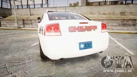 Dodge Charger 2010 LC Sheriff [ELS] für GTA 4 hinten links Ansicht