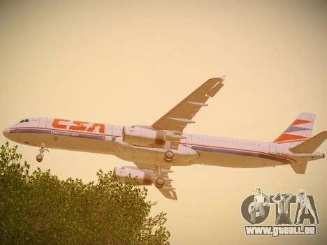 Airbus A321-232 Czech Airlines pour GTA San Andreas vue de droite