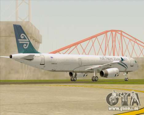 Airbus A321-200 Air New Zealand für GTA San Andreas obere Ansicht