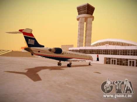 Bombardier CRJ-700 US Airways Express für GTA San Andreas rechten Ansicht