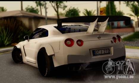 Nissan GTR Tuning pour GTA San Andreas laissé vue