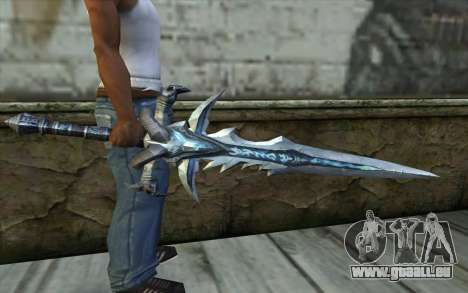 Sword from World Of Warcraft-Frostmourne pour GTA San Andreas troisième écran