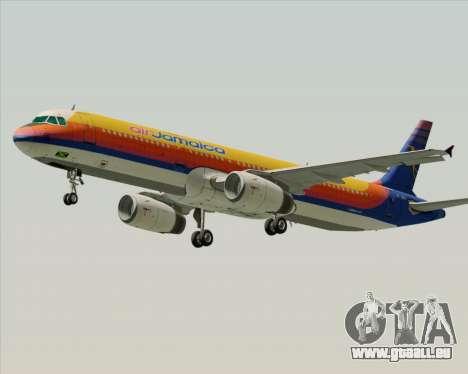 Airbus A321-200 Air Jamaica für GTA San Andreas Innenansicht