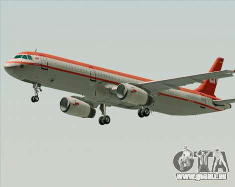 Airbus A321-200 LTU International pour GTA San Andreas vue de dessus