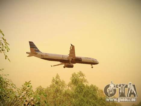 Airbus A321-232 jetBlue Airways für GTA San Andreas Innen
