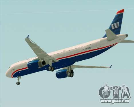 Airbus A321-200 US Airways für GTA San Andreas obere Ansicht