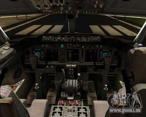 Boeing 737-8LJ Aeroflot - Russian Airlines pour GTA San Andreas salon