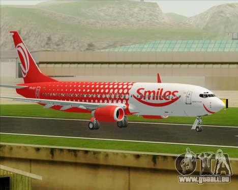 Boeing 737-800 Gol Transportes Aéreos pour GTA San Andreas vue intérieure