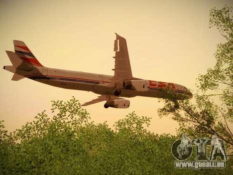 Airbus A321-232 Czech Airlines für GTA San Andreas Unteransicht