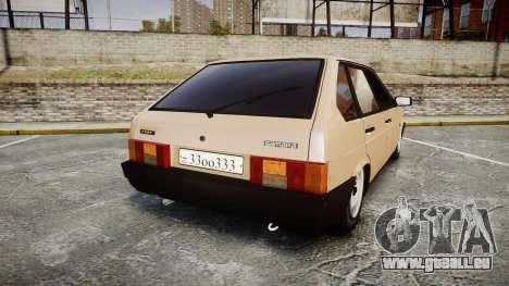 VAZ-2109 BRAS pour GTA 4 Vue arrière de la gauche