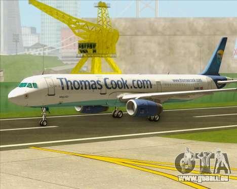 Airbus A321-200 Thomas Cook Airlines für GTA San Andreas linke Ansicht